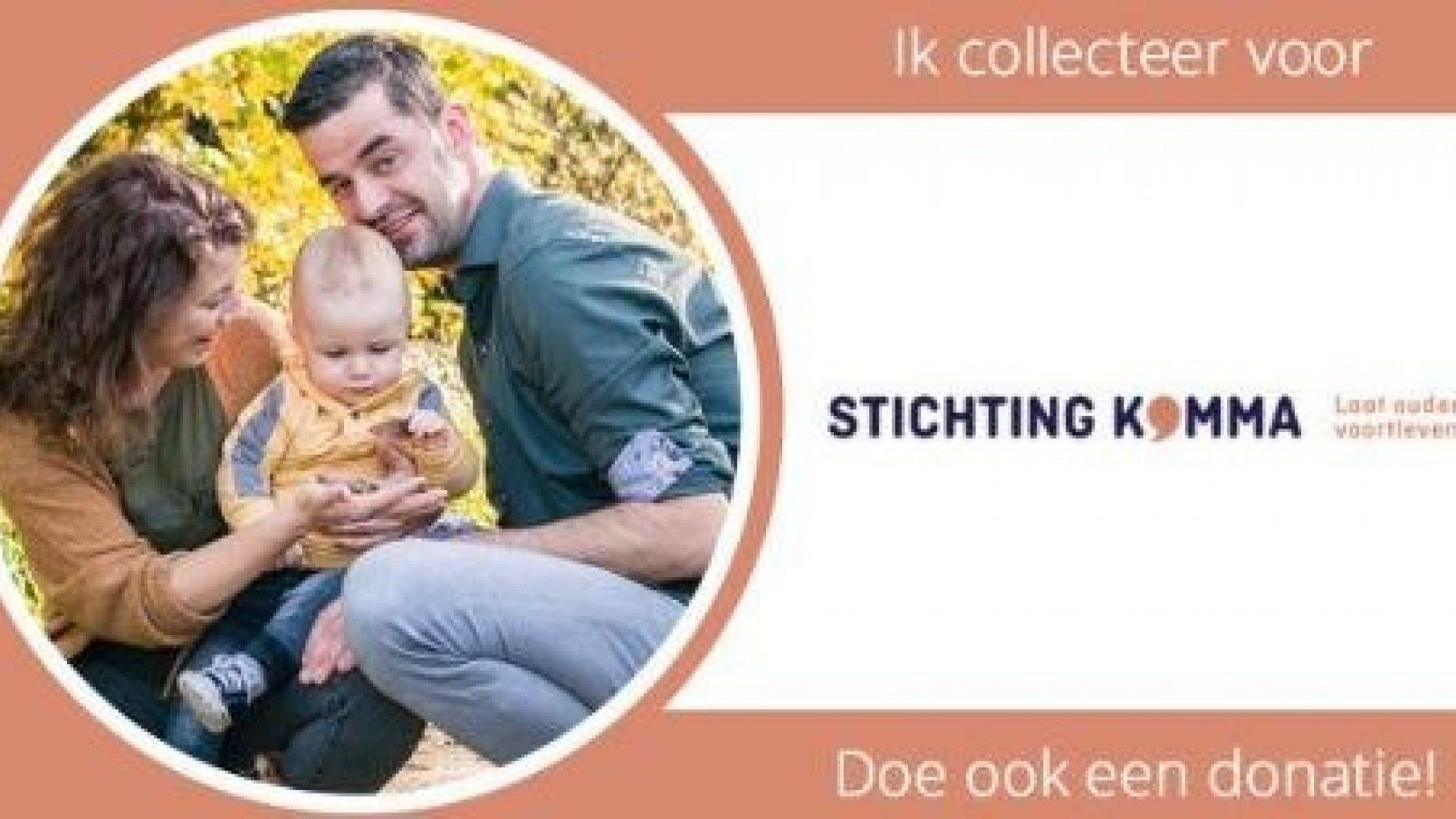 Doneer jij ook in de collectebus van Tim van der Aa voor Stichting Komma?